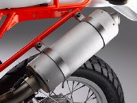 Moorespeed BMW GS muffler.